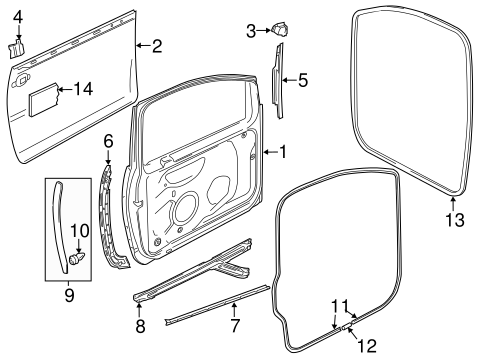 Door & Components for 2000 Volkswagen Golf #2