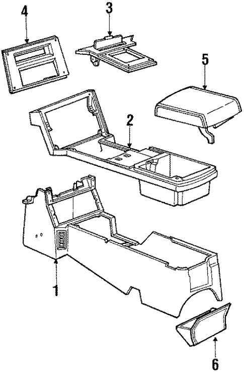 Oem 1988 Chevrolet Camaro Console Parts