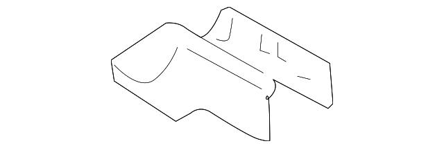 Toyota 72158-AA070-B0 Seat Track Bracket Cover
