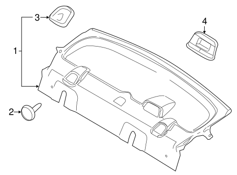 Interior Trim Rear Body For 2009 Ford Focus