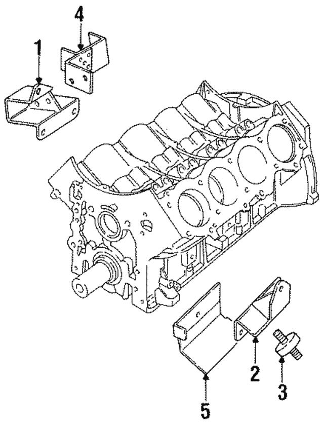 1987 1998 Land Rover Mount Insulator Stc434