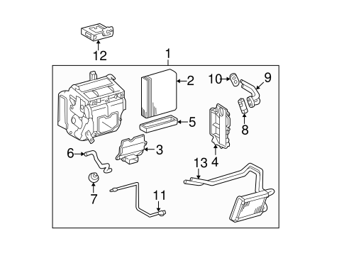 Heater Components for 2001 Toyota RAV4 #1