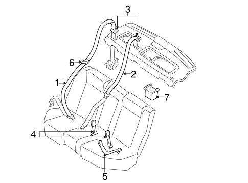 Rear Seat Belts For 2004 Infiniti G35