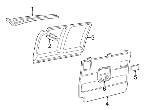 Interior Trim - Side Door for 2018 Chevrolet Express 2500 #3