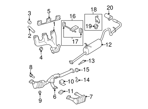 97 Ford Ranger 4 0 Engine Bracket Diagram
