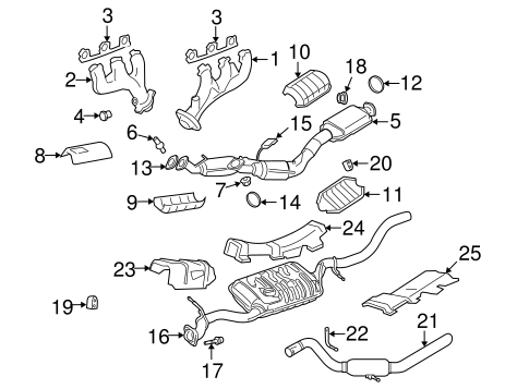 Exhaust System/Exhaust Manifold for 2009 Ford Explorer #1