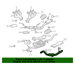 02, 03, 04, 05 Ford Explorer/Mountaineer Extension - Exhaust Pipe - Ford (1L2Z-5202-BC)