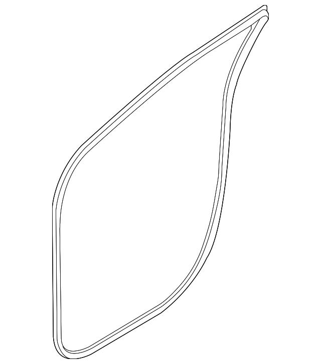 2018 Kia Sedona Exterior: 2015-2018 Kia Sedona Weather-Strip On Body 82110-A9000