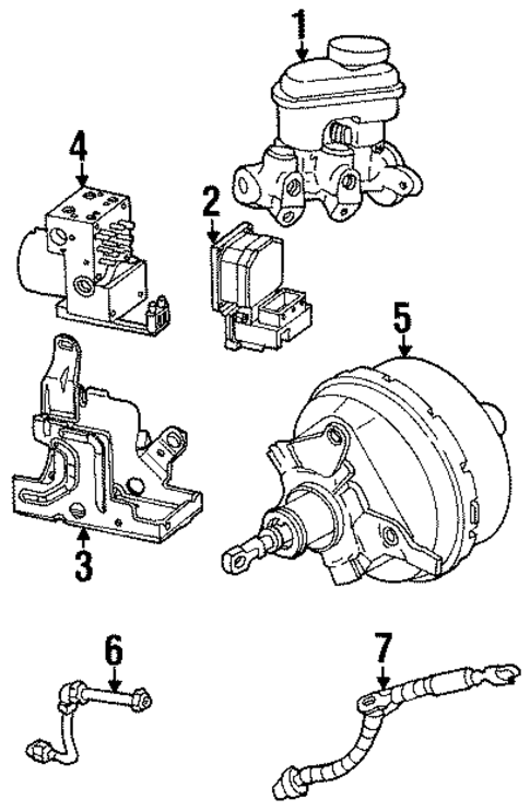 oem 1999 oldsmobile intrigue hydraulic system parts