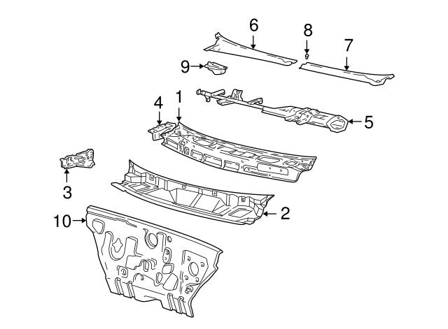 Left Upper Genuine Hyundai 66751-25100 Cowl Side Panel Assembly