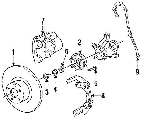 Front Brakes for 1993 Chrysler Town & Country #0
