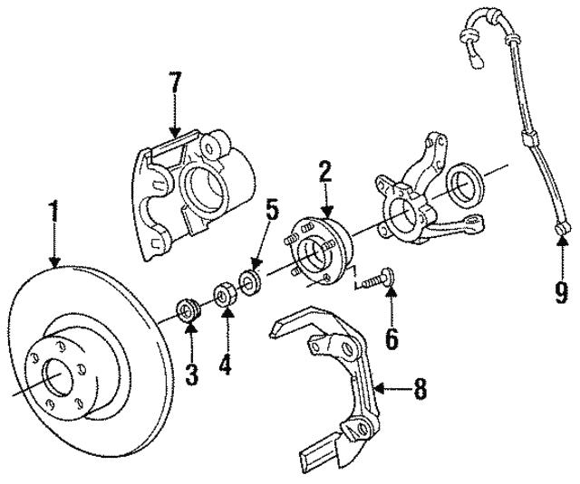 1989 2000 Mopar Wheel Stud 6501053
