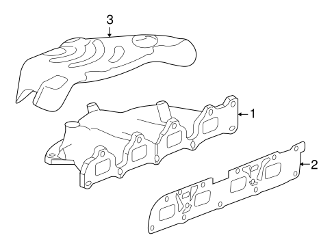 Oem 2011 Gmc Terrain Exhaust Manifold Parts