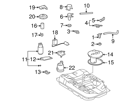 FUEL SYSTEM/FUEL SYSTEM COMPONENTS for 2002 Toyota Avalon #2