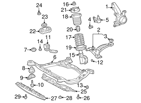FRONT SUSPENSION/SUSPENSION COMPONENTS for 2004 Toyota Avalon #2
