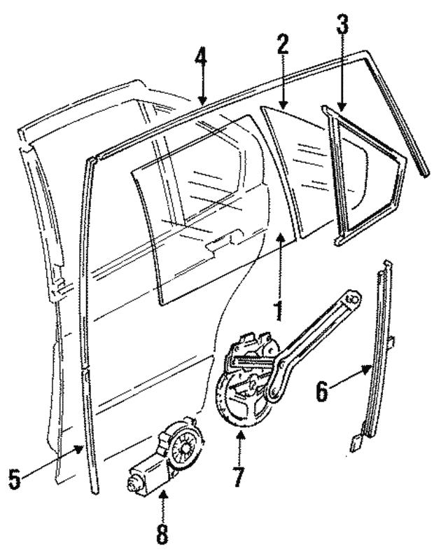 1992 1999 Bmw Window Motor 67 62 1 387 436