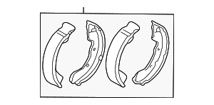 Brake Shoes - Mitsubishi (4800A089)