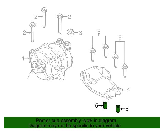 Ford F150lincoln Mark Lt Alternator Mount 11 X 15mm Bushing: Lincoln Mark Lt Engine Diagram At Freddryer.co