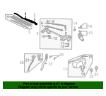 Arm, Windshield Wiper (Driver Side) - Acura (76600-S6M-A01)