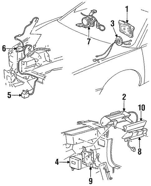 Oem 1998 Oldsmobile Aurora Air Bag Components Parts