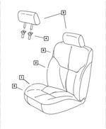 Front Seat Cushion, Right & Left