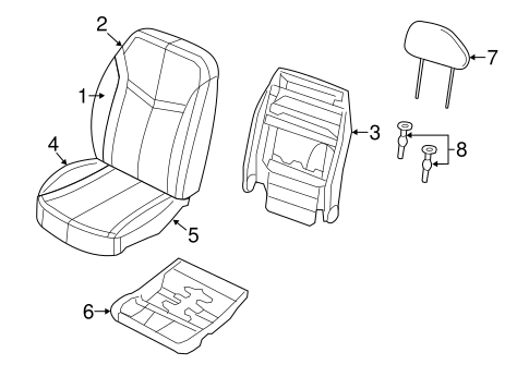 Front Seat Components For 2012 Dodge Avenger