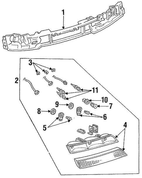 headlamp components for 1994 lincoln mark viii