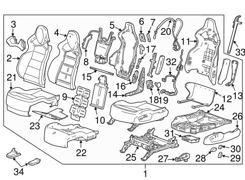 Driver Seat Components For 2018 Chevrolet Corvette