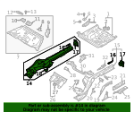 Side Rail Assembly - Audi (4K0-803-402)