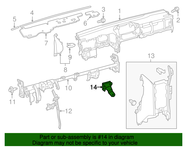 Lower Extension Mount Bracket