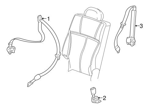 Oem 2005 Buick Rainier Rear Seat Belts Parts
