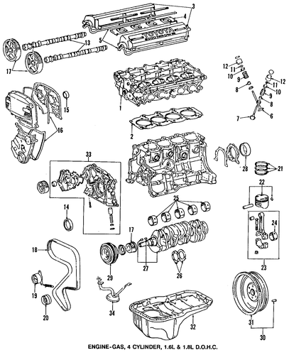 ENGINE/ENGINE PARTS for 1997 Toyota Corolla #1