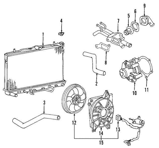 2009 kia spectra engine diagram 2004 2009 kia radiator assembly 25310 2f071 kia parts  kia radiator assembly 25310 2f071