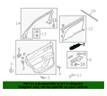 Handle, Inside - Ford (LB5Z-7822601-AB)