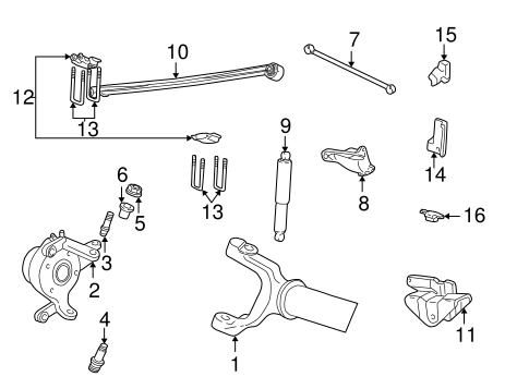 Front Suspension/Suspension Components for 2001 Ford F-350 Super Duty #5