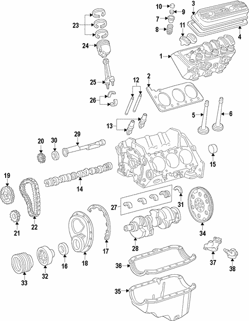 Engine for 2018 Chevrolet Express 2500 #0