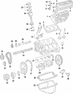 Genuine GM  4.3 Litre Engine |Part# - 89018140