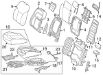 Seat Cover - Mercedes-Benz (292-910-99-03-8R02)