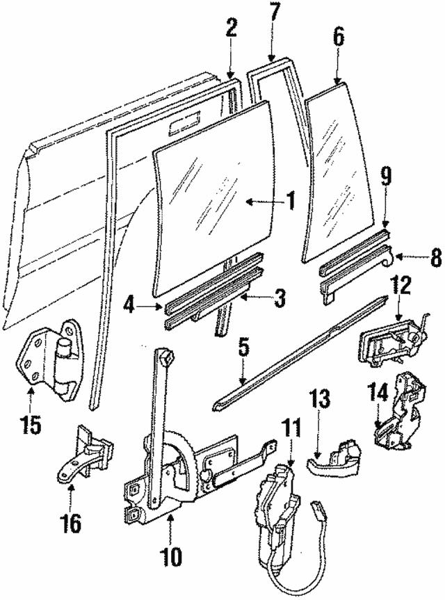 1993 1995 land rover range rover door glass alr4453 land rover Range Rover ABS Pump door glass land rover alr4453