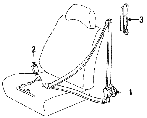 Front Seat Belts For 1996 Toyota Corolla