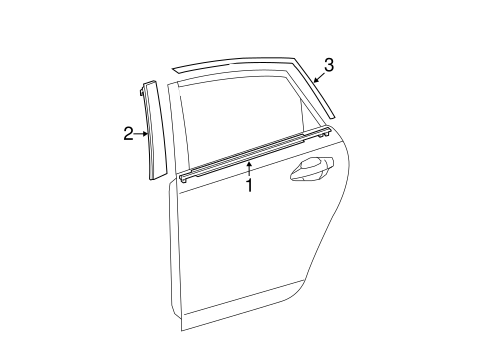 BODY/EXTERIOR TRIM - REAR DOOR for 2014 Toyota Prius #1