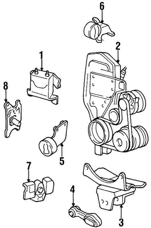 1997 Oldsmobile Achieva Suspension Diagram