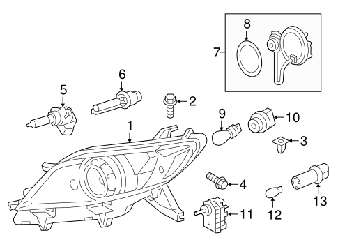 ELECTRICAL/HEADLAMP COMPONENTS for 2012 Toyota Sienna #2