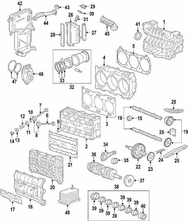 cylinder head - porsche (996-104-002-94)