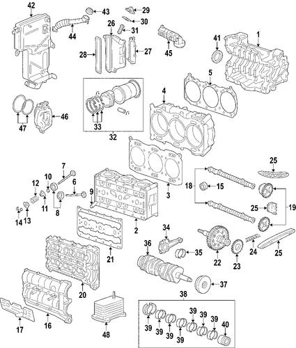Porsche 996 Engine Block For Sale