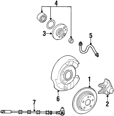 Front Brakes for 1998 Mercedes-Benz SL 500 #1