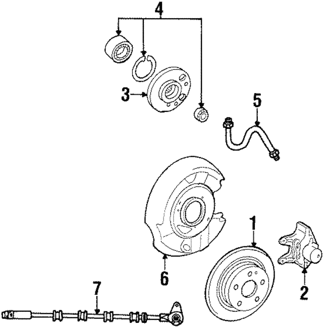 Disc Brake Rotor - Mercedes-Benz (129-423-03-12-64)