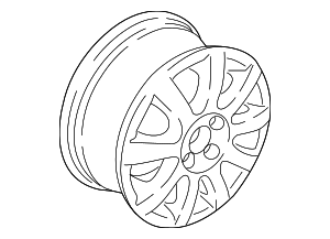 Wheel - Volkswagen (5GM-601-025-AC-8Z8)