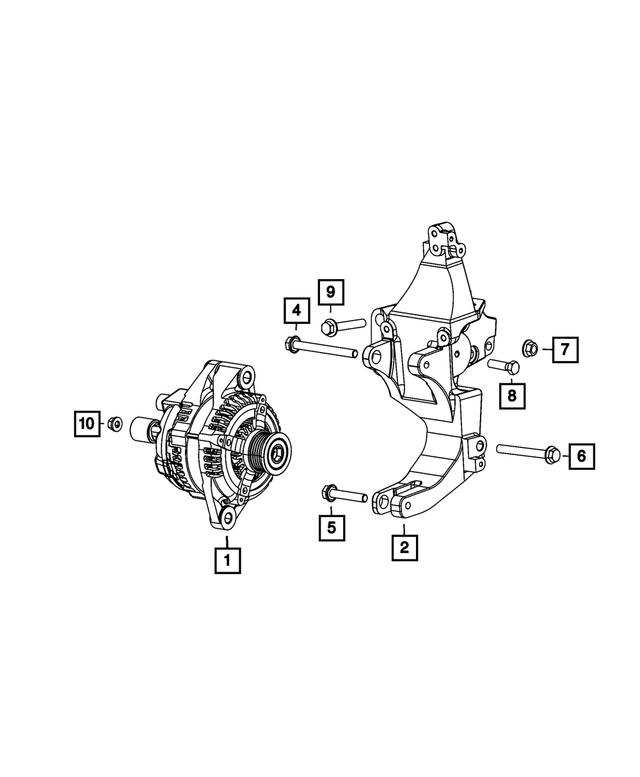 Alternator And Compressor Bracket - Mopar (4627619AA)