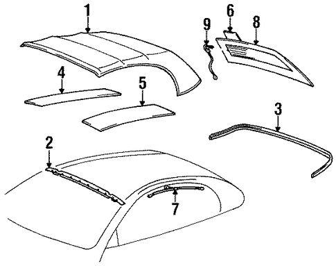 BODY/COVER & COMPONENTS for 1997 Toyota Celica #1